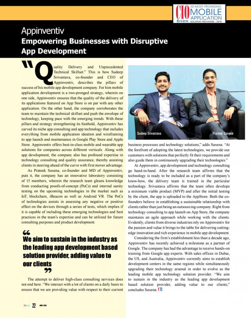 Empowering Business with Disruptive App Development