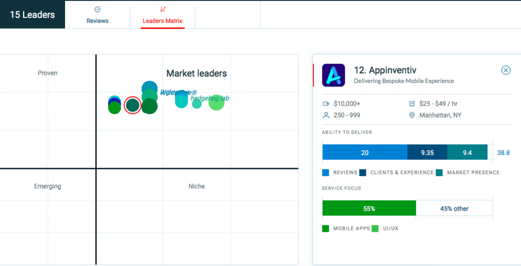 Appinventiv - Leader Matrix