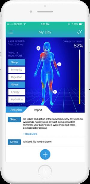 Soniphi Vitality Health App - User Interface Design
