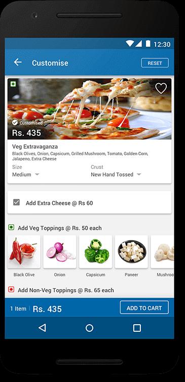 Dominos - User Interface App Screen