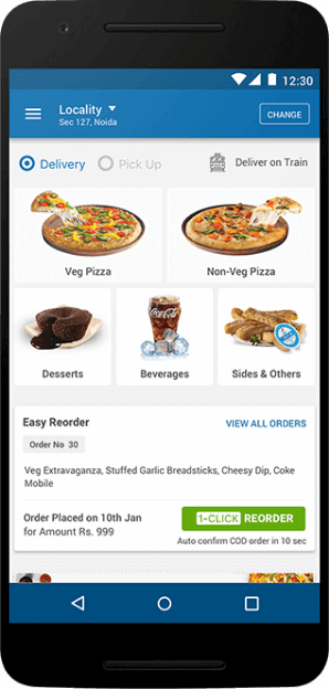 Dominos - User Interface App Screen