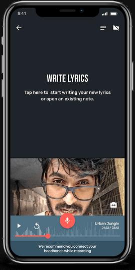 Gully beat App UI design