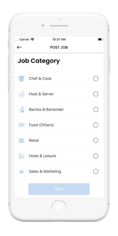 Jobget Post Job Screen