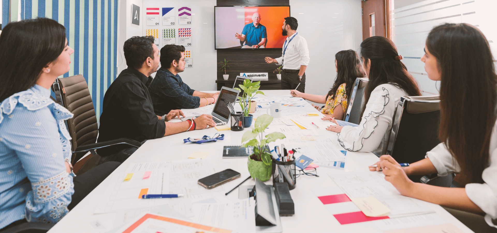 Appinventiv UX Review Team's Client Meeting