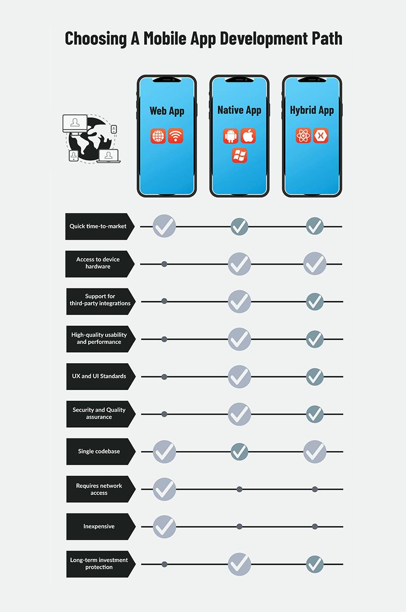choosing a mobile app development path