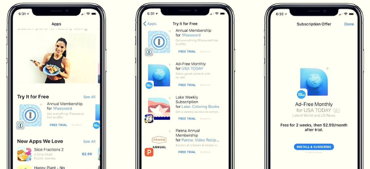 Apple promoting 'Free trial' Subscription iOS apps