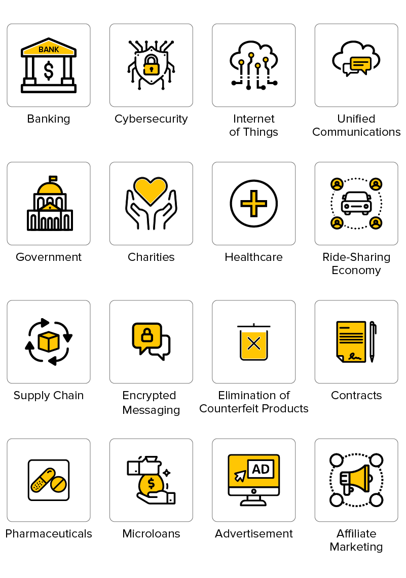 Cryptocurrencies Use Cases by Industry