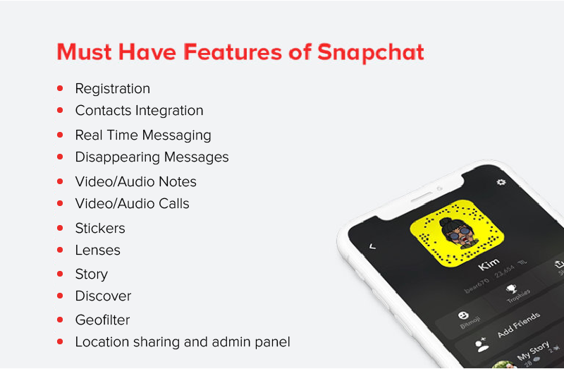 Must have features of Snapchat