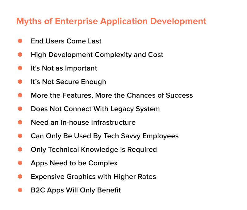 Myths of Enterprise App Development