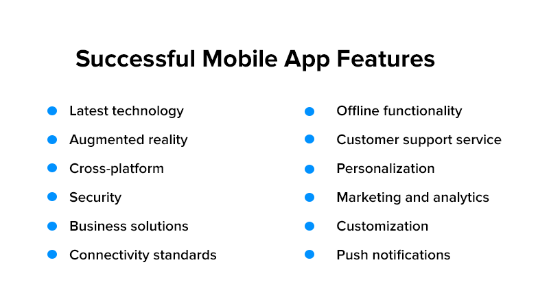 Sucessful mobile app features
