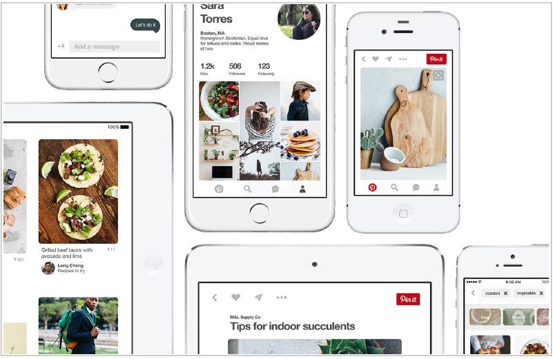 Designing guide of Pinterest app
