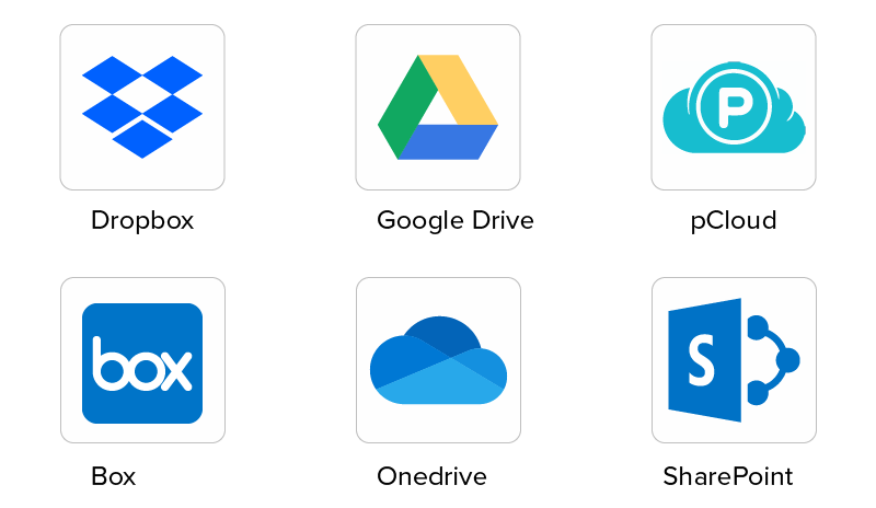 top players in cloud storage market