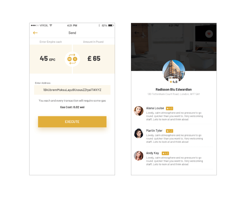 Booking cost by introducing smart contract and cryptocurrency in the mix