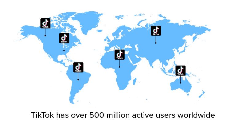 tiktok active users worldwide