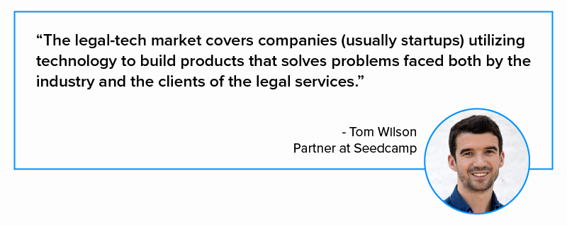 quote on legal-tech by Tom Wilson