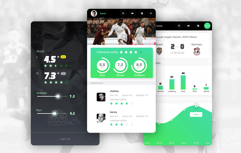 Fantasy Sports App design