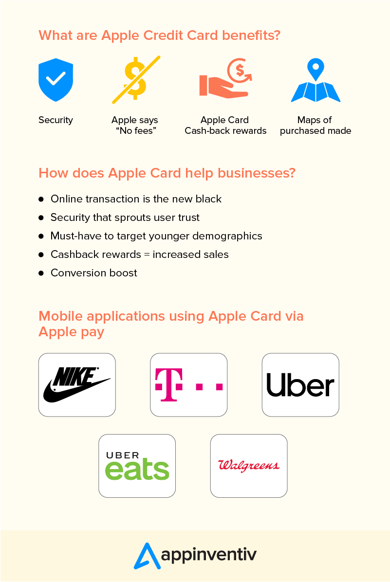 benefits of apple card summary infographic