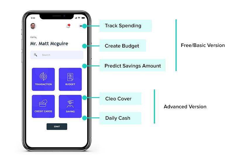 cleo app features