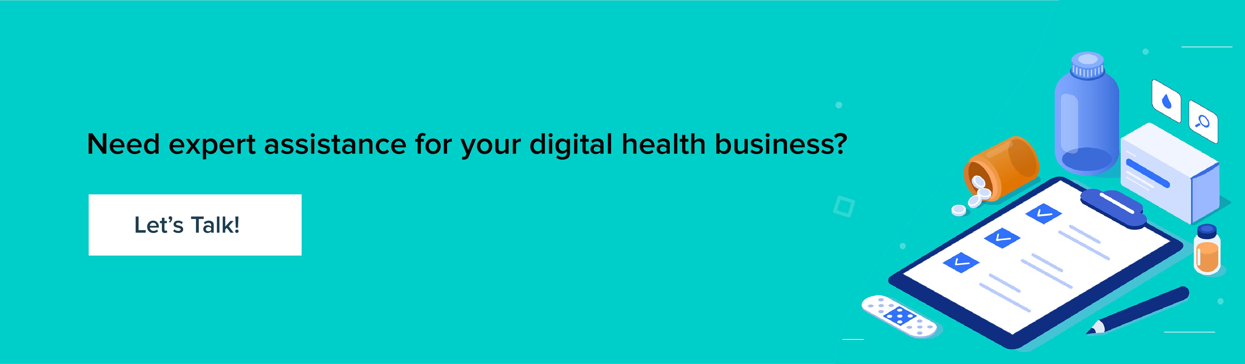 expert assistance for digital health business