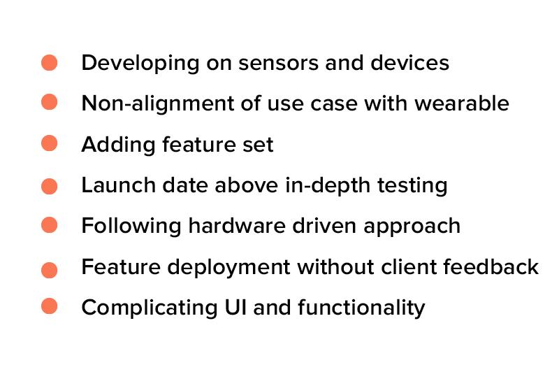 wearable app development mistakes