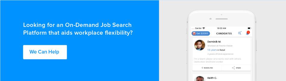 on demand job search platform