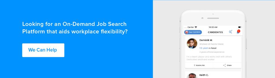 on demand job search platform