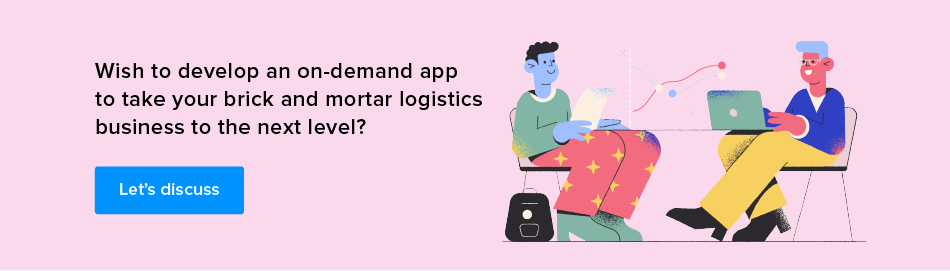 on demand logistics app development cost