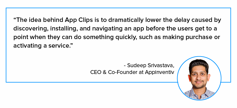 sudeep srivastava quote on app clip
