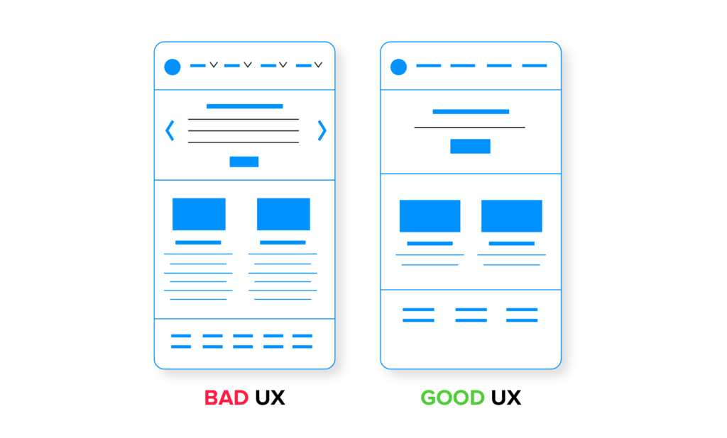 difference in bad and good UX