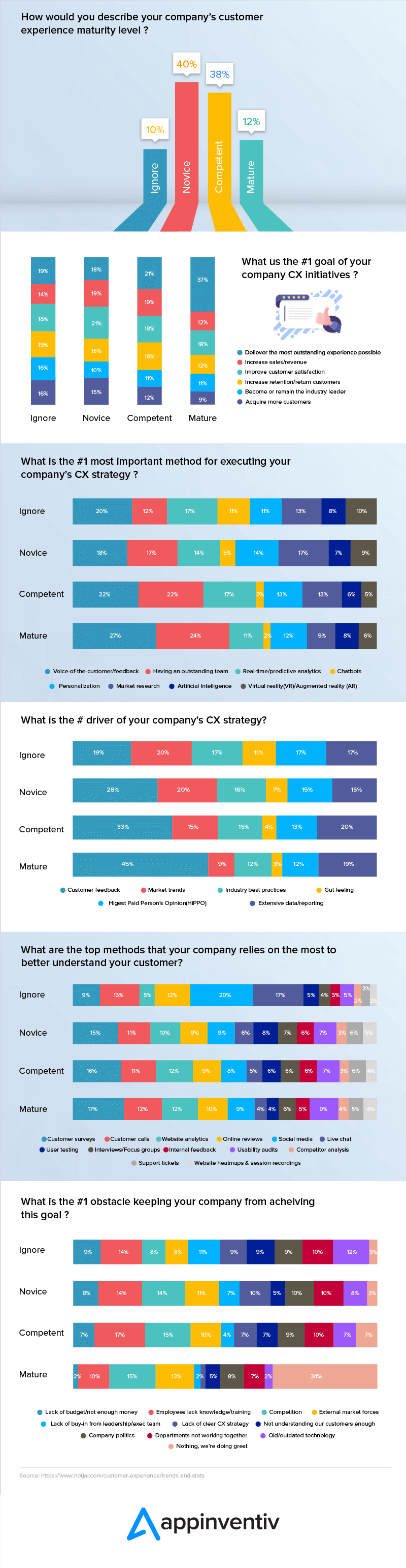 How would you describe your's company's customer experience maturity level