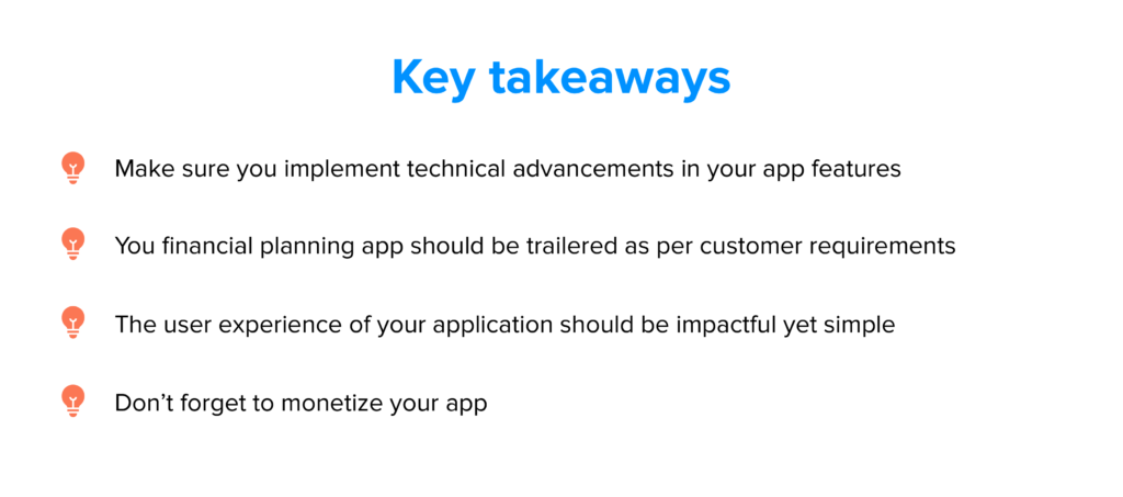 Key takeaways of how to build a personal finance app