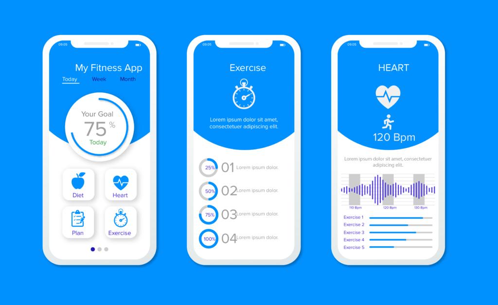 Nutrition planning app UI