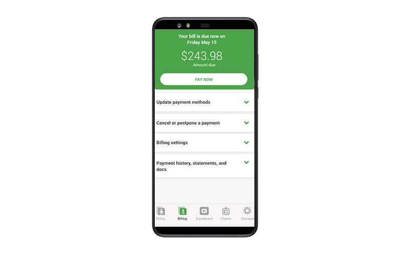 insurance app payment gateway feature