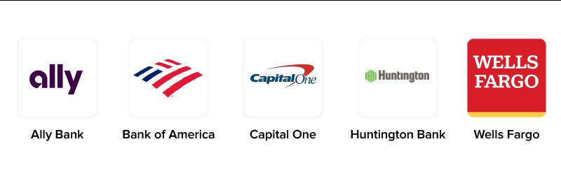 top banking apps logos