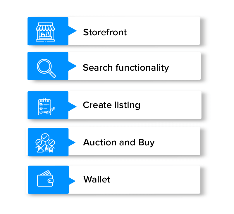 Features of NFT Marketplace