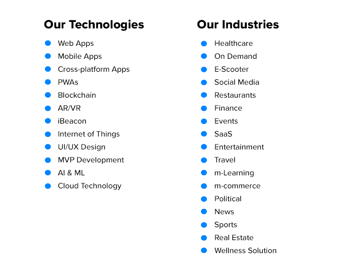 Our technologies and industries