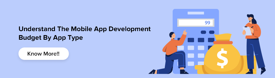 mobile app development budget by type